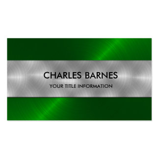 Bright Green Stainless Steel Business Card