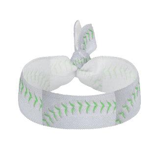 Bright Green Stitches Baseball / Softball Hair Tie