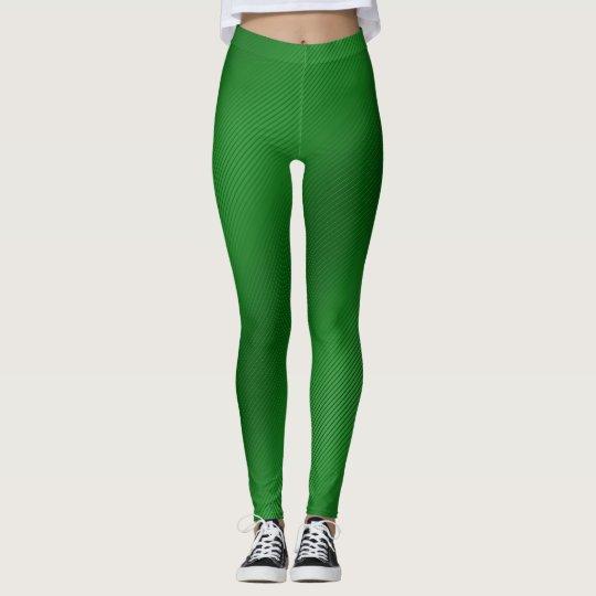 Bright green stripy Leggings