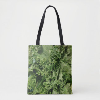 Bright Green Vegan Kale Tote Bag