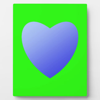Bright green with blue heart plaque
