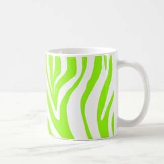 Bright Green Zebra Animal Print Pattern Coffee Mug