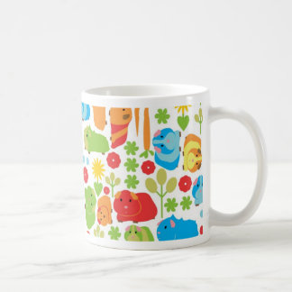 Bright Guinea Pig Patch Basic White Mug