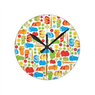 Bright Guinea Pig Patch Clocks