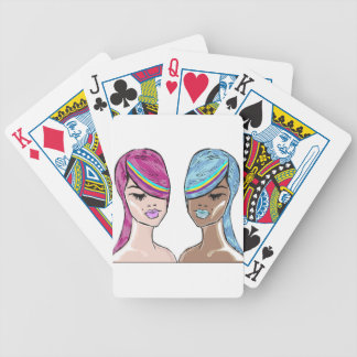 Bright Hair Model Sketch Bicycle Playing Cards