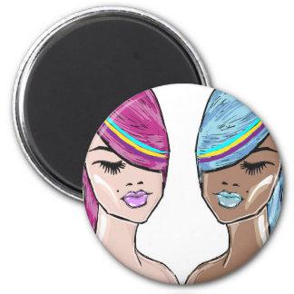 Bright Hair Model Sketch Magnet