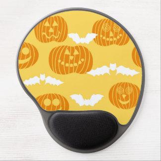 Bright Halloween Pumpkin Bat Design Gel Mousepads