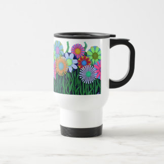 Bright Happy Colors Flower Plastic Cup