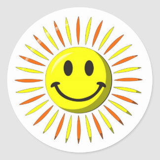 Bright Happy Smile - Smiley Face Classic Round Sticker