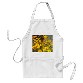 Bright happy yellow flowers in a bunch standard apron