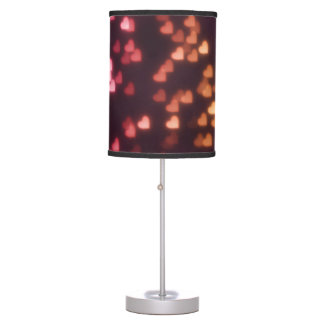 Bright Heart Bokeh Lights Pattern Table Lamp