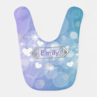 Bright hearts bib
