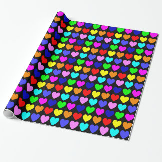 Bright Hearts Wrapping Paper