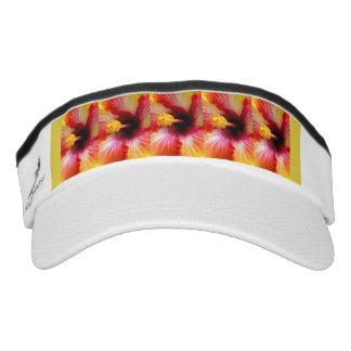 Bright hibiscus close up visor