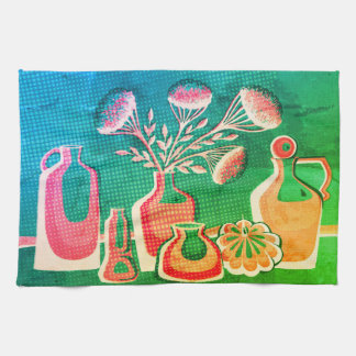 Bright home kitchen themed design for cafe kitchen towel