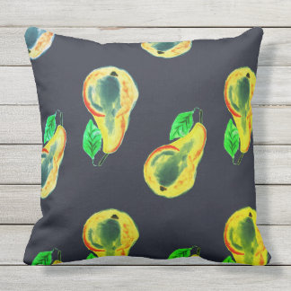 Bright home kitchen themed design for cafe throw pillow