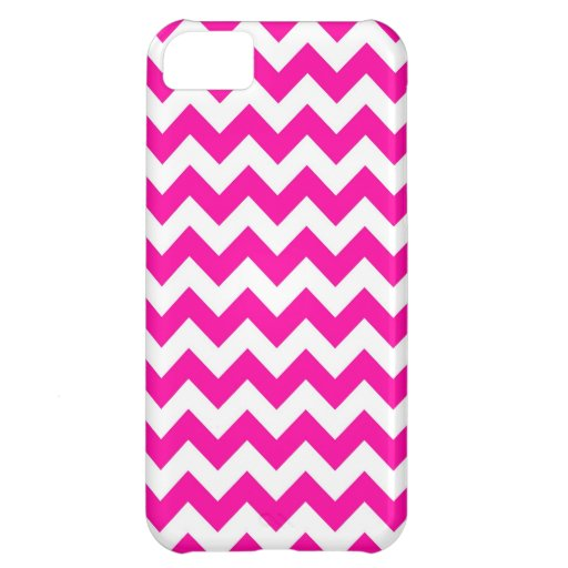 Bright Hot Pink Chevrons iPhone 5C Cover