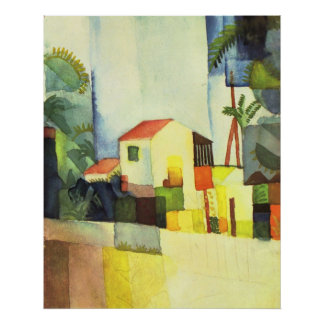 Bright house by August Macke Poster