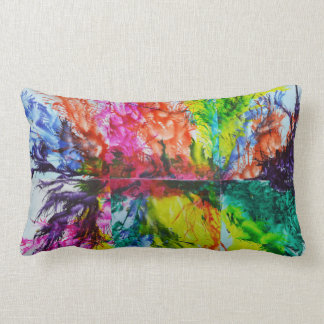 Bright Inky Colors Lumbar Pillow