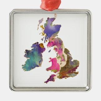 Bright Isle Silver-Colored Square Ornament