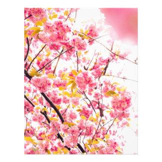 Bright Japanese Pink Cherry Blossoms Sakura Letterhead