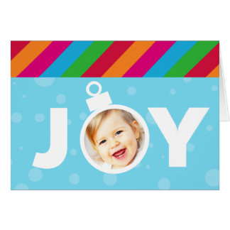 Bright JOY Photo Ornament Folded Christmas Greeting Card