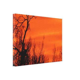 Bright Kansas Early Morning Sunrise Photo Canvas Print
