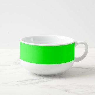 Bright Kiwi Green Soup Mug