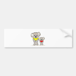 Bright Koalas Bumper Sticker