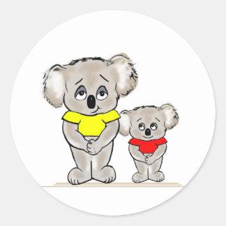 Bright Koalas Classic Round Sticker