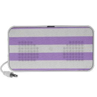 Bright Lavender Stripes; Striped Laptop Speakers
