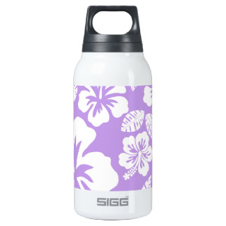 Bright Lavender Tropical Hibiscus Insulated Water Bottle