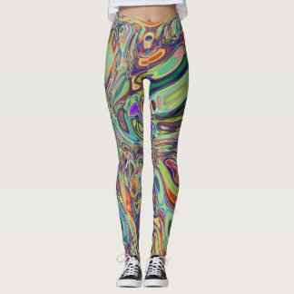Bright leggings with neural abstraction