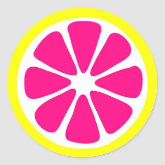Bright Lemon Slice Sticker