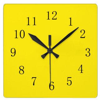 Bright Lemon Yellow Wall Clocks
