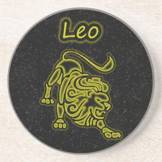 Bright Leo Beverage Coaster