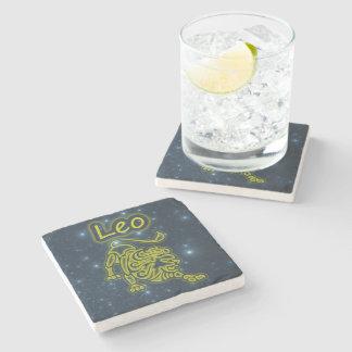 Bright Leo Stone Beverage Coaster