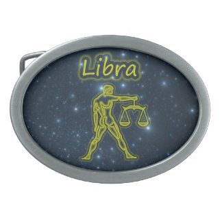 Bright Libra Oval Belt Buckles
