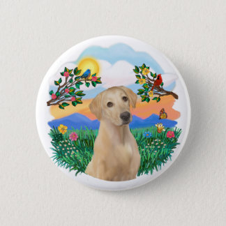 Bright Life - Yellow Labrador 2 Inch Round Button