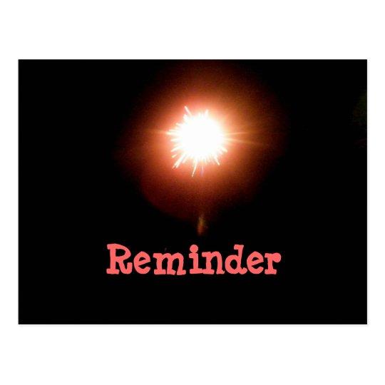 Bright Light Reminder Card