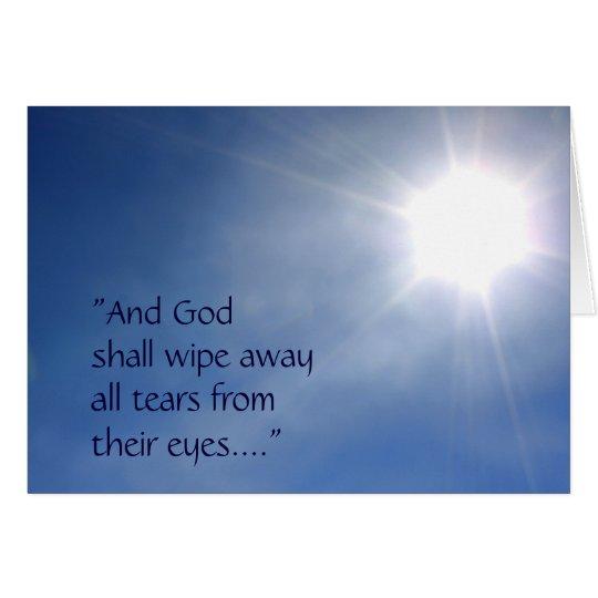 Bright Light Revelation 21 Sympathy Card