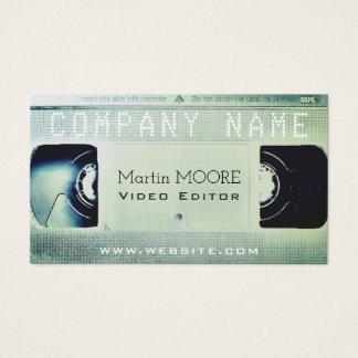 Bright light vhs cassette retro cover business card