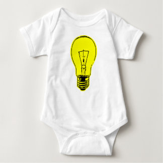 Bright Lightbulb Baby Bodysuit