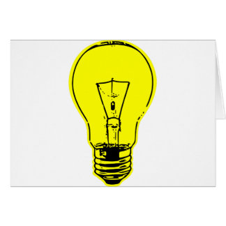 Bright Lightbulb Card