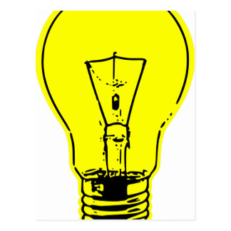 Bright Lightbulb Postcard
