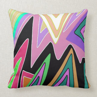 Bright Lightning ZigZag Design Throw Pillow