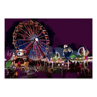 Bright Lights and Fun at the Carnival Poster
