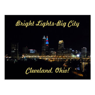 Bright Lights Cleveland Ohio Postcard