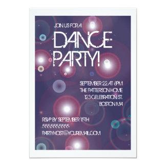 Bright Lights Dance Party Invitation
