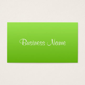 Bright Lime Business Card